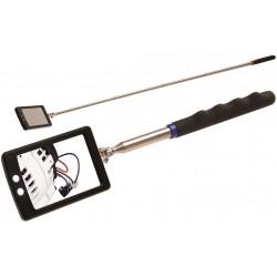 Τηλεσκοπικός πτυσσόμενος καθρέπτης με led 285 - 585mm